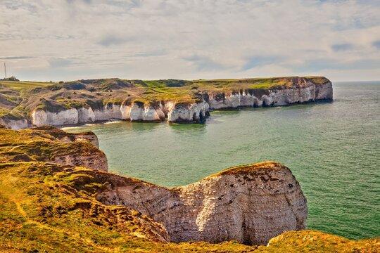 Cliffs of Flamborough Head, Yorkshire, Great Britain.
