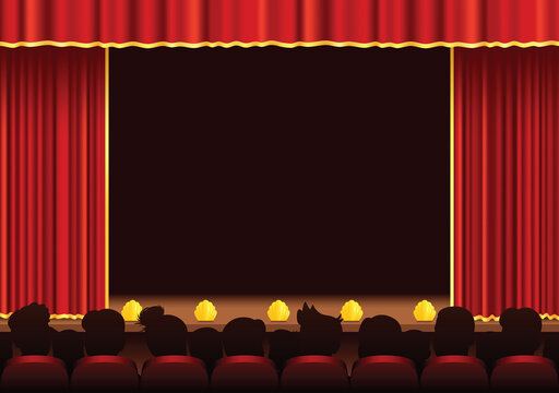 Cinema and theatre stage area