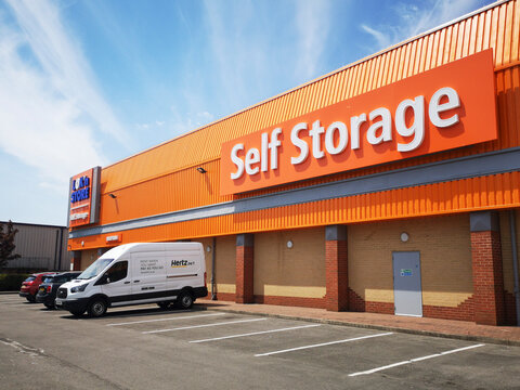 Cardiff, UK: June 02, 2020: Lok'n Store Self Storage Unit - is a provider of self storage space. The company rents individual rooms to both business and domestic customers. Illustrative Editorial