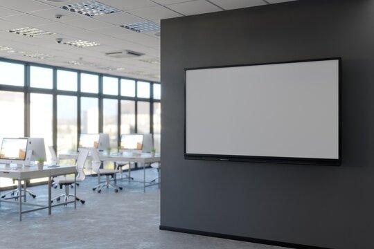 Office LCD display mockup. 3d illustration