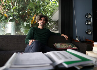 Argentine film director Armando Bo, poses for a portrait during an interview with Reuters, in Buenos Aires