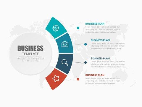 Creative Business Infographic Element Premium Vector
