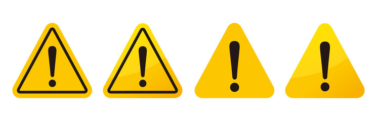 warning sign icon vector triangle Wall mural