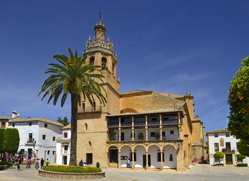 Ronda, Spain - Parish Church of St Mary Major. Ronda is a city in the Spanish province of Malaga, Andalusia
