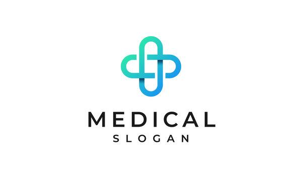 Medical Cross Logo, Health Logo Design Template, Healthcare Symbol Vector Template, Health Clinic Logo