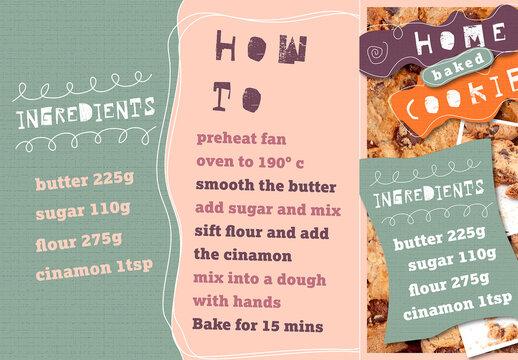 Recipe-Themed Social Media Post Set