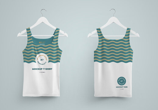 2 Mockup  Tanks Front and Back on Hangers