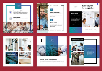 Modern Business Social Media Layout Set