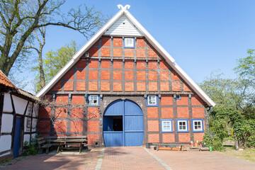 Historic farmhouse in Artland, Lower Saxony, Germany, 05-26-2020