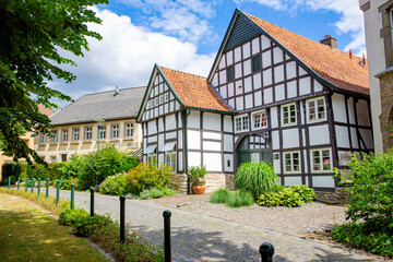 Historic downtown in Bad Laer, Lower Saxony, Germany, 05-26-2020