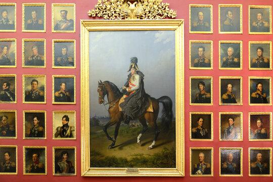 State Hermitage Museum, War Gallery of 1812. Saint Petersburg, Russia