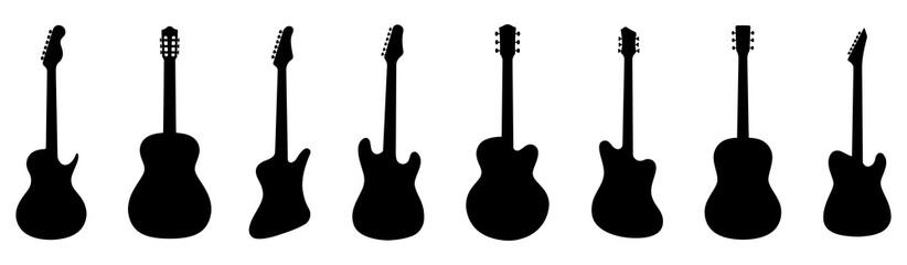 Guitar silhouette set. Vector illustration Wall mural