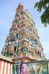 Colourful Krishna Hindu temple in Hamm, Westphalia, Germany, 05-26-2020