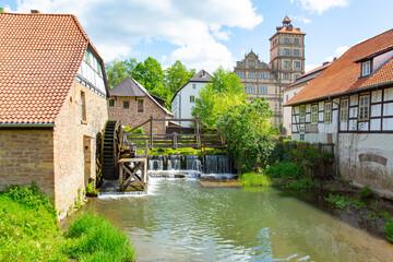 Historic Brake Castle in Lemgo, Westphalia, Germany, 05-26-2020