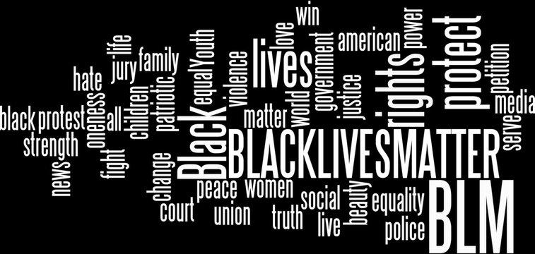 Black Lives Matter wordcloud Illustration