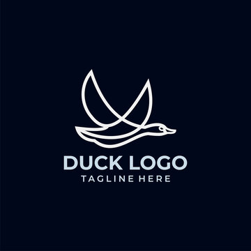 duck logo icon vector isolated
