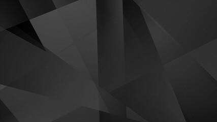 Fotobehang - Black technology geometric low poly background