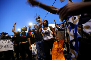 Protesters rally against the death in Minneapolis police custody of George Floyd, in New Orleans