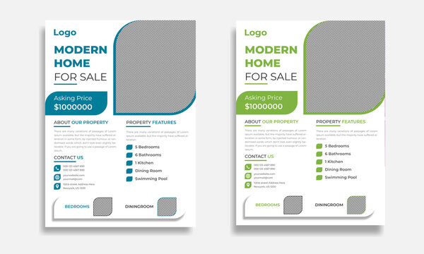 Modern and Creative Real Estate Flyer Template