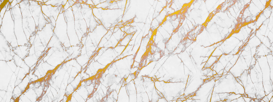 White and golden marble texture for background or tiles floor decorative design.