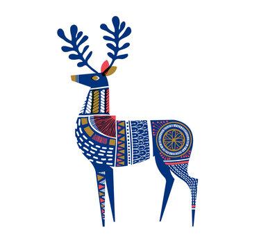 Deer in mid-century, Scandinavian style. Eps10 vector
