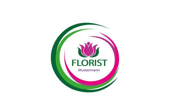 Florist Logo Vector Template Design Illustration
