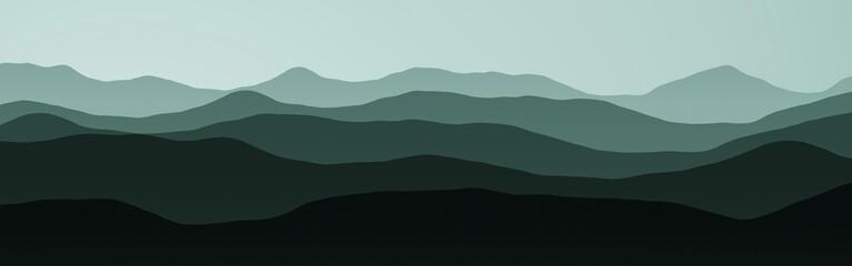 creative hills peaks in night digitally made texture background illustration
