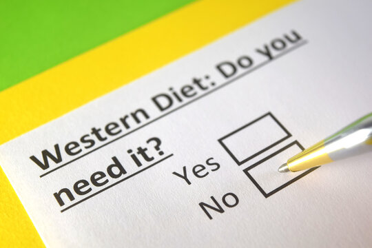 One person is answering question about western diet.