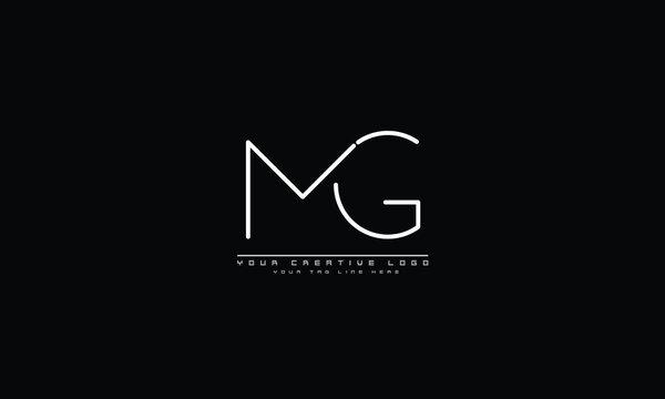 MG GM abstract vector logo monogram template