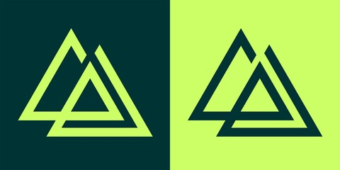 Monogram logo triangle bundle set