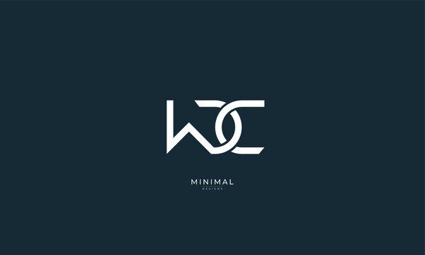 Alphabet letters icon logo WDC