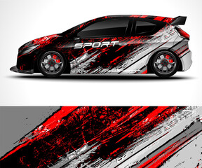 Racing sport car wrap design and vehicle livery
