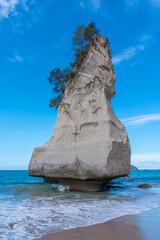 Te Hoho-rots op het schiereiland Coromandel in Nieuw-Zeeland
