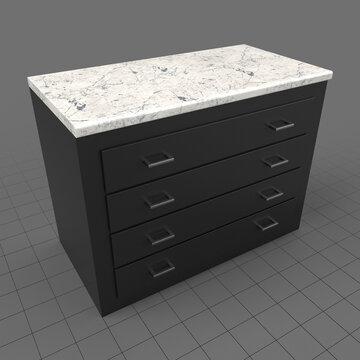 Modern lower kitchen drawers