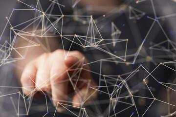 group network digital 3d modern Wall mural
