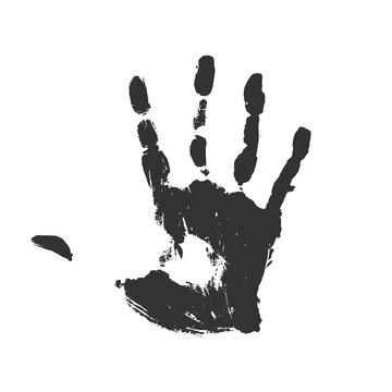 Creative design of black hand