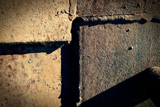Steel Grunge Texture Background with Welds