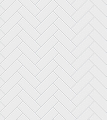 White Herringbone Zig Zag Bathroom Flooring Ceramic Tile Brick Seamless Repeat Vector Illustration Background