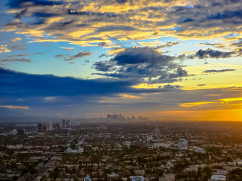 West Los Angeles Sunrise View via Century Park Towers
