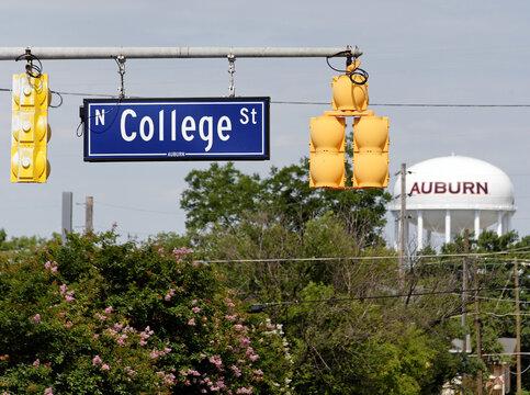 College Street in Auburn, Alabama near the campus of Auburn University on June 17, 2012.