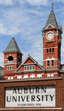 The campus of Auburn University in Auburn, Alabama on June 17, 2012.