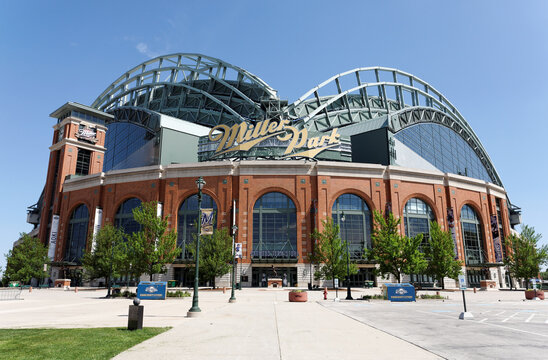 A view of Miller Park, the home stadium of the Milwaukee Brewers in Milwaukee, Wisconsin on June 3, 2013.