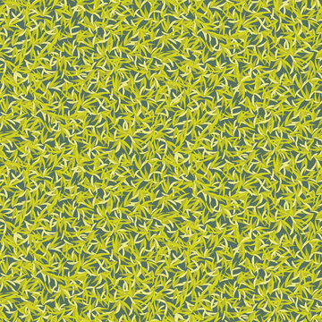 Fresh green moss seamless vector pattern. Woodland texture surface print design. For backgrounds, fabrics, stationery, and packaging.