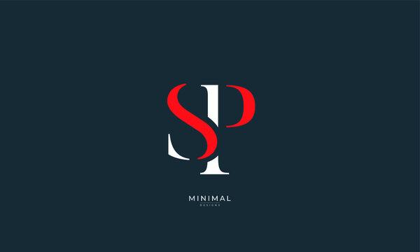 Alphabet letter icon logo SP