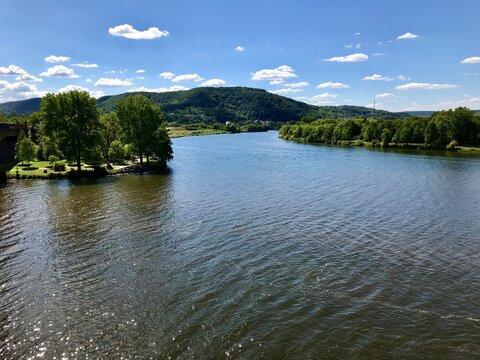 Saarmündung / Saar-Mosel-Zufluss in Konz (Rheinland-Pfalz)