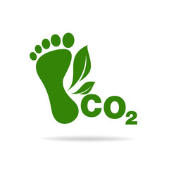 CO2 footprint concept sign icon vector illustration