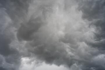 Grey cloudy sky background during rain season. Fotobehang