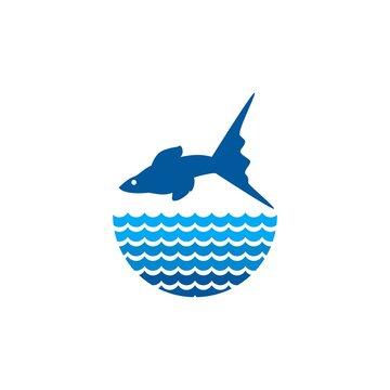 guppy fish vector design template illustration