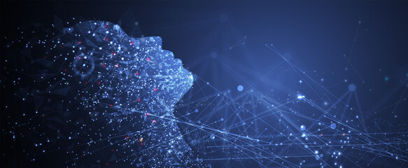 Obraz Conceptual technology illustration of artificial intelligence - fototapety do salonu