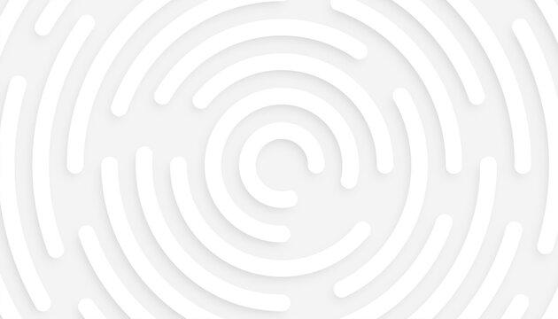 minimal white background with 3d circular pattern design